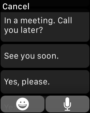 Apple Watch - Preset Replies